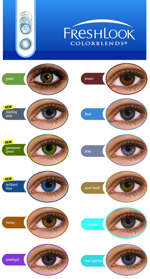 Freshlook Colorblends Coloured Contact Lenses